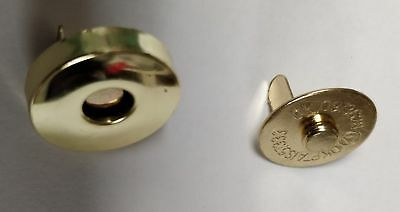 UK based 10 x 14mm silver or gold magnetic snaps closure clasp
