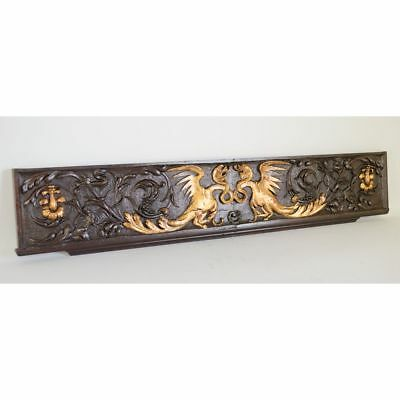 Fabulous 18th c. French Carved Renaissance style Gilded Griffin Dragon Panel