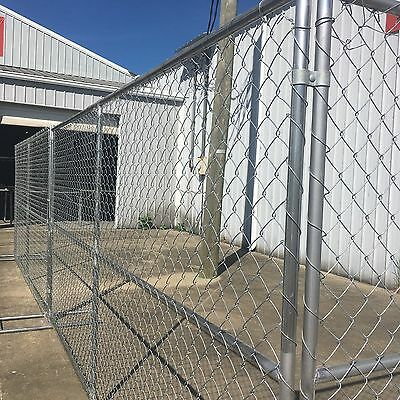 Rent-A-Fence 12'lx6'h Chain Link Fence Panels, Construction Fence, Temp Fence