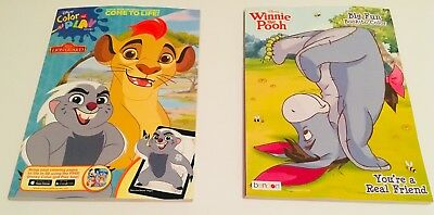 Disney The Lion Guard and Winnie the Pooh Coloring Book Lot of 2