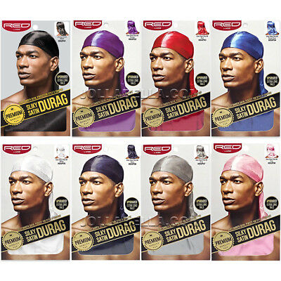 RED by Kiss Premium Silky Smooth Satin Durag Men's Doo Rag Caps *Pick 1 Color
