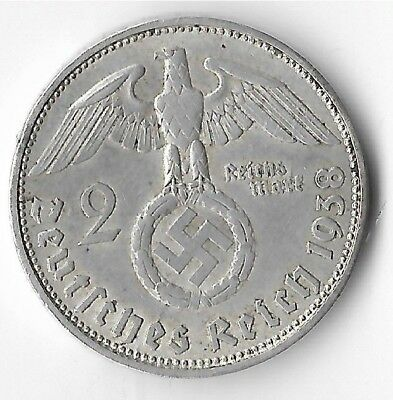 Rare Old Silver 1938 WWII MUNICH Germany Eagle Great War Collection Coin US/Z13