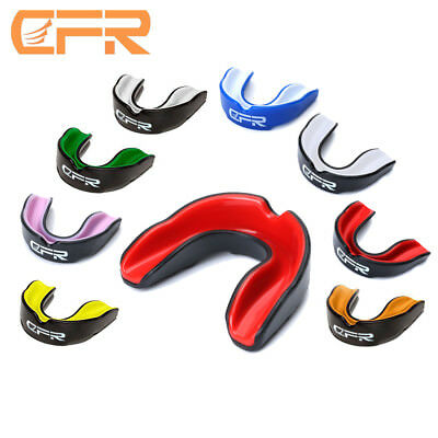 CFR Gel Gum Shield Case Mouth Guard Teeth Grinding Boxing MMA Sports MouthPiece