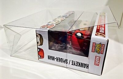 1 Box Protector For The FUNKO Marvel Captain America Civil War 4 Pack  Custom