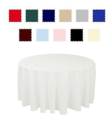 """70"""" Round Seamless Tablecloth For Wedding Party Banquet 30"""" 36"""" 48"""" 60"""" tables"""
