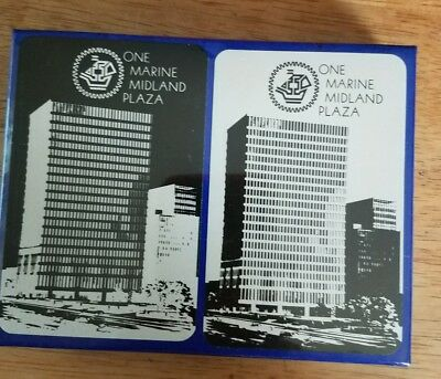 """Collectible advertisement playing cards """"Marine Midland bank double deck"""