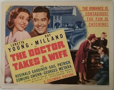 The Doctor Takes a Wife  title lobby card  1940  Loretta Young  Ray Milland