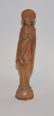 "Anri Style Hand Carved Wooden Madonna Praying - 5.5""H- Mint - No mark"