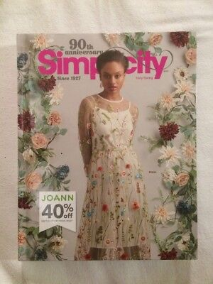 SIMPLICITY 90TH ANNIVERSARY sewing pattern catalog early spring 2017