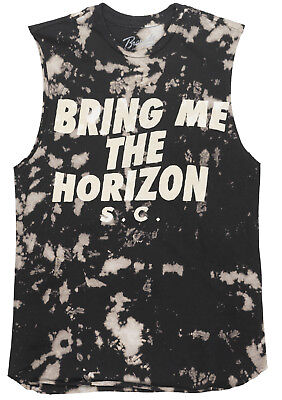 Bring Me The Horizon Bmth Tank Top Bleached Sleeveless Rock Band Music Tee