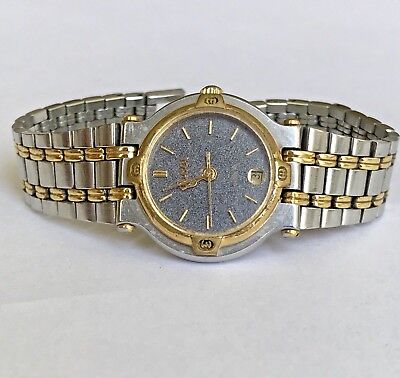 aafdc51bb88 Vintage GUCCI 9000L Stainless Steel   Gold Plated Lady s Watch - 4 Repair