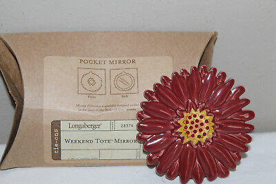 Longaberger  Pocket Mirror To Use In Weekend Tote Basket