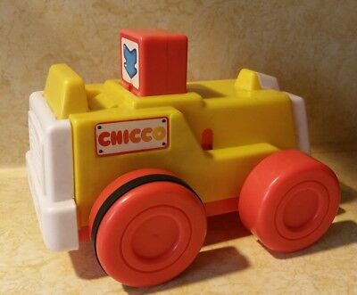 Chicco toy push n go tractor Constuction worker VERY HARD TO FIND RARE VTG Italy