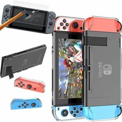 Hard PC Transparent Hard Cover Case + HD Screen Protector For Nintendo Switch