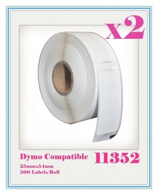 2 Compatible for Dymo / Seiko 11352 Label 25mm x 54mm Labelwriter450/450Turbo