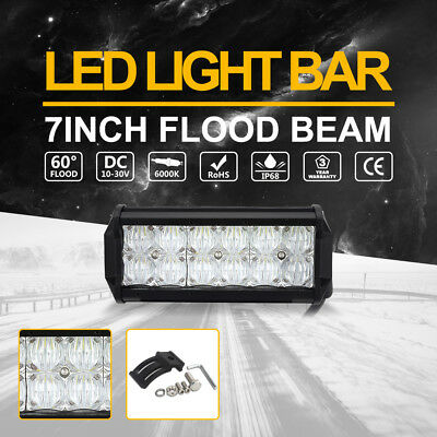 "Cree 7"" inch 5D LED Light Bar Spot Flood Combo Beam Driving SUV Offroad Lamp 4WD"