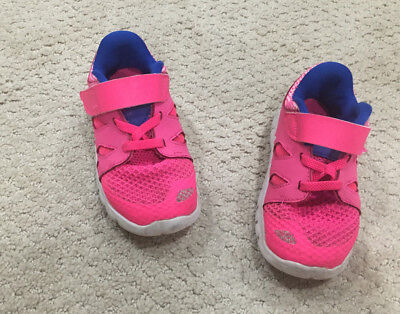 newest d5199 c7cae NIKE FREE 5.0 Toddler Baby 8C Running Sneakers Pink Size 8C Easy Close
