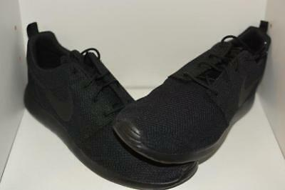 587db9d06c8a NIKE ROSHE TWO Mens 844656-001 Triple Black Textile Running Shoes ...