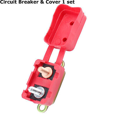 50AMP 12V Circuit Breaker Cover Stud Type Fuse Auto Reset Protector Dual Battery