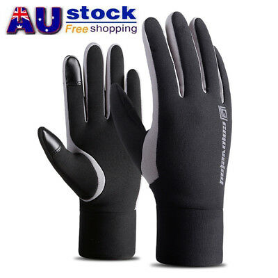 AU Winter Outdoor Sports Warm Gloves Touch Screen Thermal Skiing Waterproof
