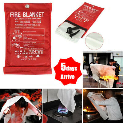 New QUICK RELEASE HOME&OFFICE SAFETY PROTECTOR LARGE FIRE BLANKET IN 1M