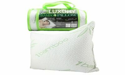 LUXURY BAMBOO PILLOW QUEEN MEMORY FOAM FABRIC FIBRE CARE CONTOUR 60 x 40cm