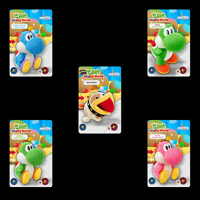 Yoshi's Crafted World Series Poochy 5PCS PVC NFC Tag Game Cards for Switch