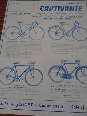 Catalogue / Pub Velo Cycle Vintage Captivante 1963   ( 29 )
