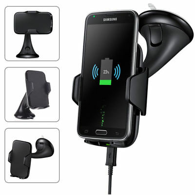 Qi Wireless Car Holder Cradle Mount Stand Fast Charger Charging For iPhone 8 XUS