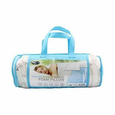 COOLING BAMBOO MEMORY FOAM PILLOW FABRIC CARE CONTOUR COVER XL 71 x 48 x 14cm