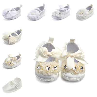 Newborn Baby Baptism Shoes Sneakers Infant Girl Anti-slip Toddler Soft Sole Crib