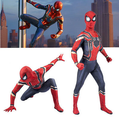 Avengers 3 Infinity War Kids/Adults Iron Spiderman Cosplay Costume Halloween AU