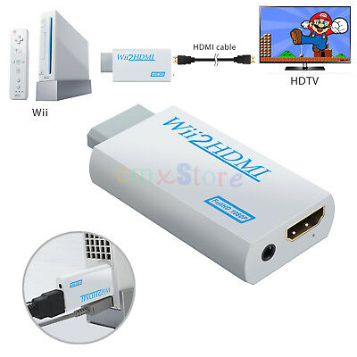 Wii to HDMI Converter Adapter 480i/P Upscale to  Full HD 720 / 1080P+3.5mm Audio