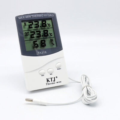 Digital Thermometer Hygrometer Temperature Humidity Max Min Indoor Outdoor IN UK