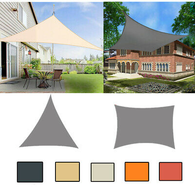 Sun Shade Sail Canopy Patio Garden Awning Shelter With Free Rope 3 Sizes IN UK