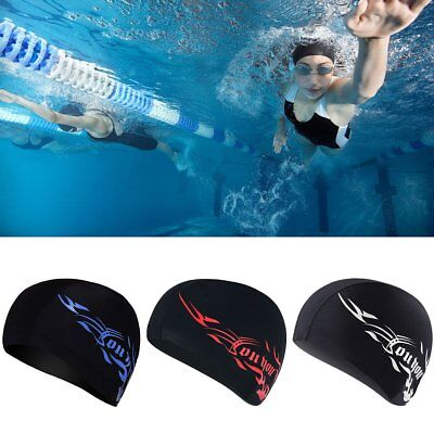 Adult Unisex Soft Cap Bathing Hat Swimming Cap Waterproof Elastic Pool Hat