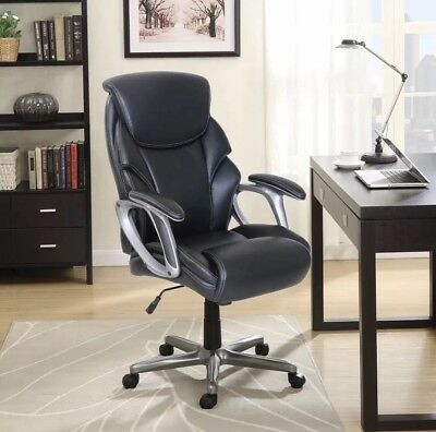 SERTA BIG AND TALL COMMERCIAL OFFICE CHAIR With MEMORY FOAM,Black