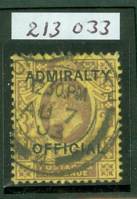 SG 0106 Great Britain 3d Dull Purple /Orange Yellow Admiralty Official Fine used