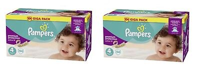 2 x Giga Pack 104 couches Pampers Active Fit Taille 4 de 8 à 16 kg 208 Couches