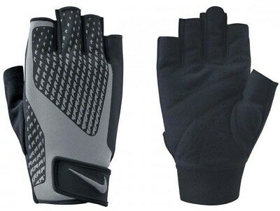 Nike Mens Core Lock 2.0 Sports Weight Lifting Training Gloves - Black & Grey