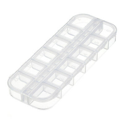 Plastic Seed Bead Container 130x50mm Storage Box 12 Compartments (G62)