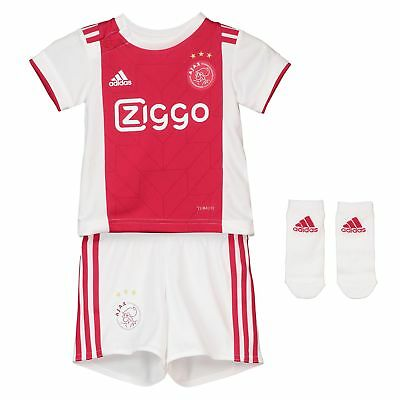Official Ajax Home Baby Kit Shirt Shorts Jersey Suit Football 2018 19