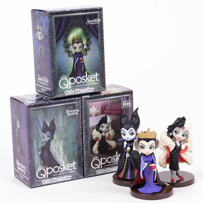 3pcs/set Q Posket Characters Snow White Evil Queen Villains PVC Figures Toys