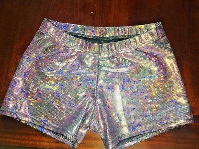 Cute Dancewear Shorts, Motionwear Adult M Fits Like Sm Or Xs  Iridescence Color