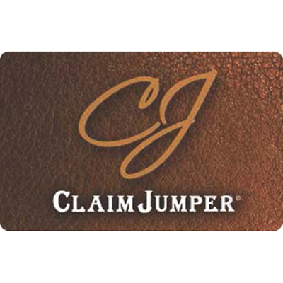 Claim Jumper Gift Card $50 Value, Only $44.00! Free Shipping!