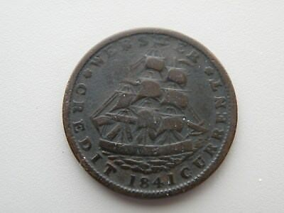 1841 Millions For Defense--Not One Cent For Tribute--Hard Times Token