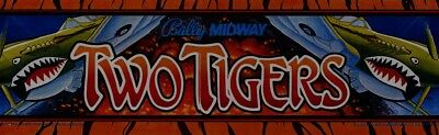 "Two Tigers Arcade Marquee 26"" x 8"""