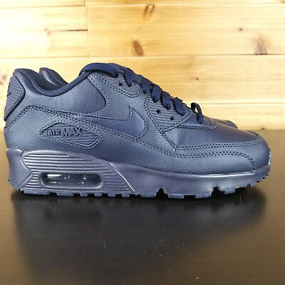 168e8a5e74 Nike Air Max 90 Women's Navy Shoes Leather Sizes 5.5 - 6.5 // 833412 401