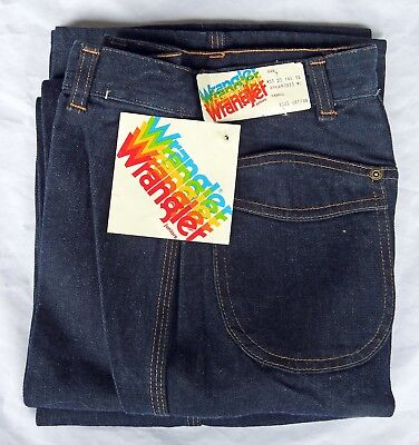 Vintage 1970's Wranger Jeans - No Front Pockets - Juniors Size 7 W25 L34 New!