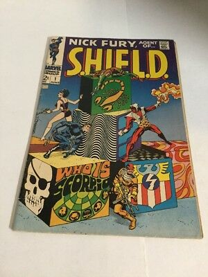 Nick Fury Agent Of Shield 1 Fn- Fine- 5.5 Silver Age